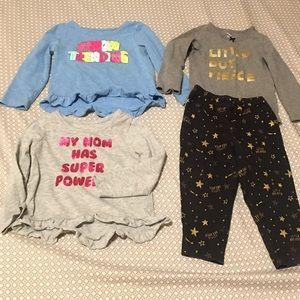 2/$12 mixed toddler girl clothes lot sz 24 months